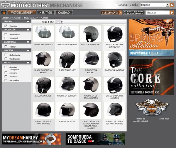 Harley-Davidson Motorclothes: cascos