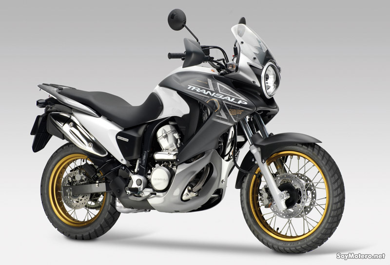Honda XL700V 2011 - decoración blanco y negro