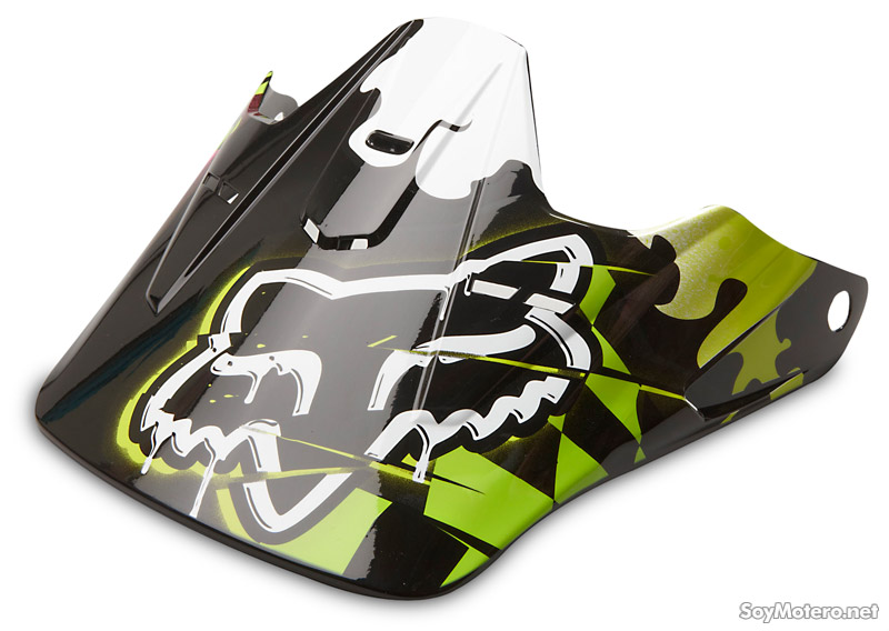 visera casco offroad Fox V1 Checked Out