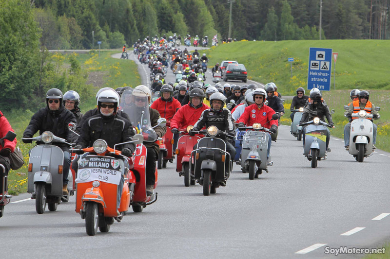 Vespa World Days 2011, ruta vespas de 20 países