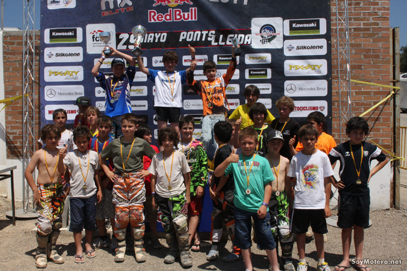 MX Élite Ponts 2011: podio MX Alevines
