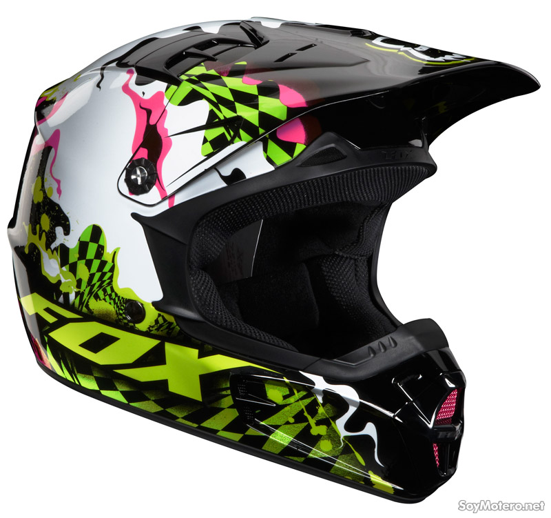 Casco infantil motocross Fox Youth V1 Checked Out