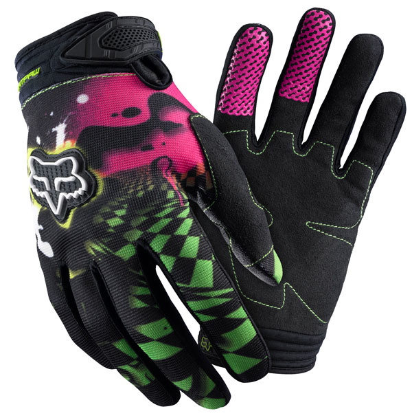 Fox Youth Checked Out: guantes de motocross para niño