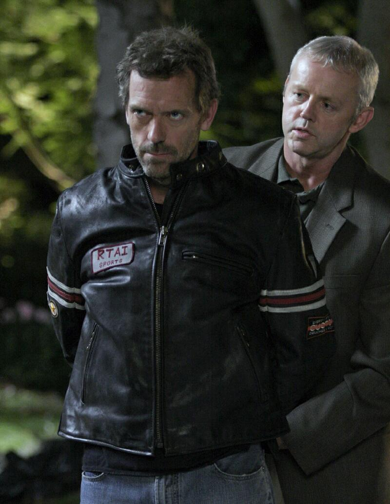 House - Hugh Laurie con su Vanson y David Morse