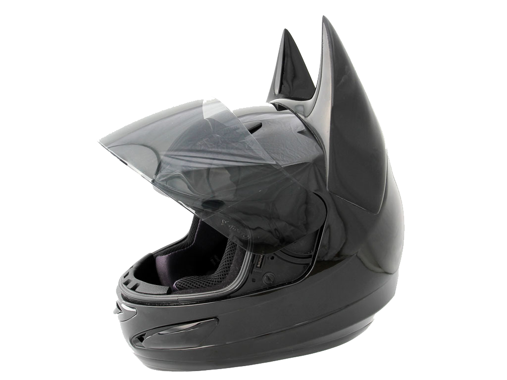 el casco de batman es un casco integral al uso con las orejas en punta del superh roe. Black Bedroom Furniture Sets. Home Design Ideas