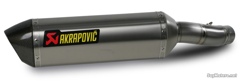 Silencioso Akrapovic Slip-On Open - titanio y carbono