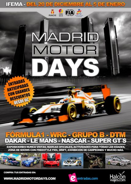 Cartel oficial del evento Madrid Motor Days 2013