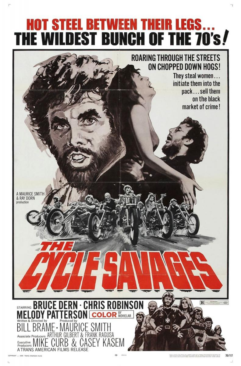"Portada de la película ""The Cycle Savages"" (1969)"