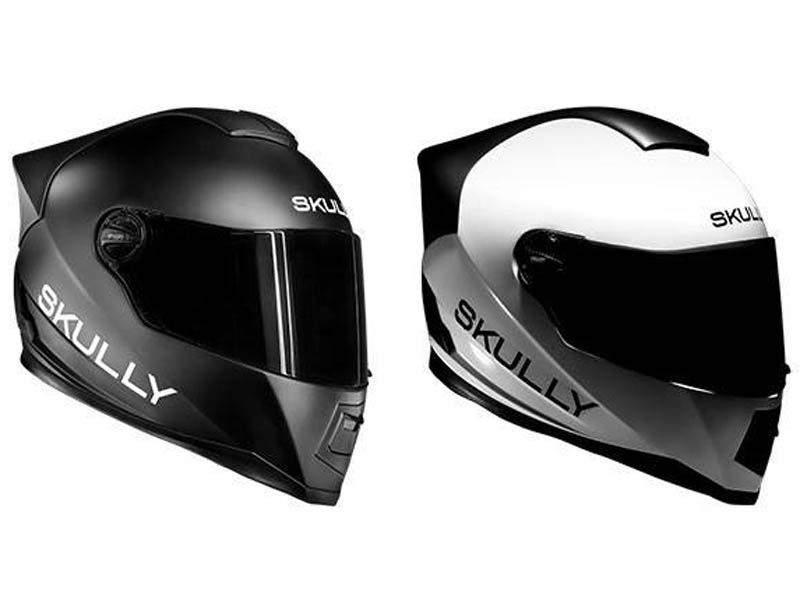Casco Skully en negro y blanco