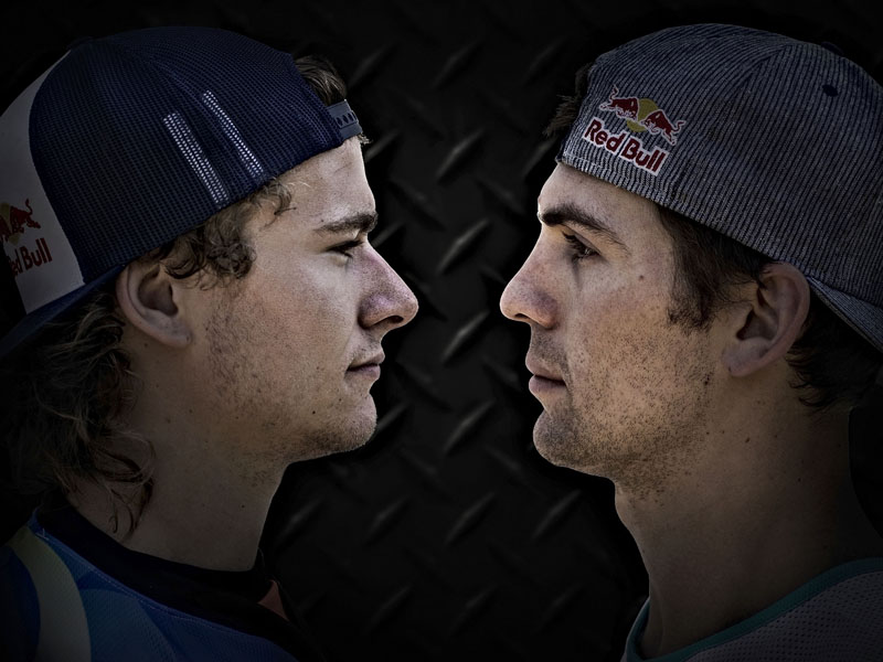 Levi Sherwood y Josh Sheehan se la juegan en la última cita del Red Bull X-Fighters.