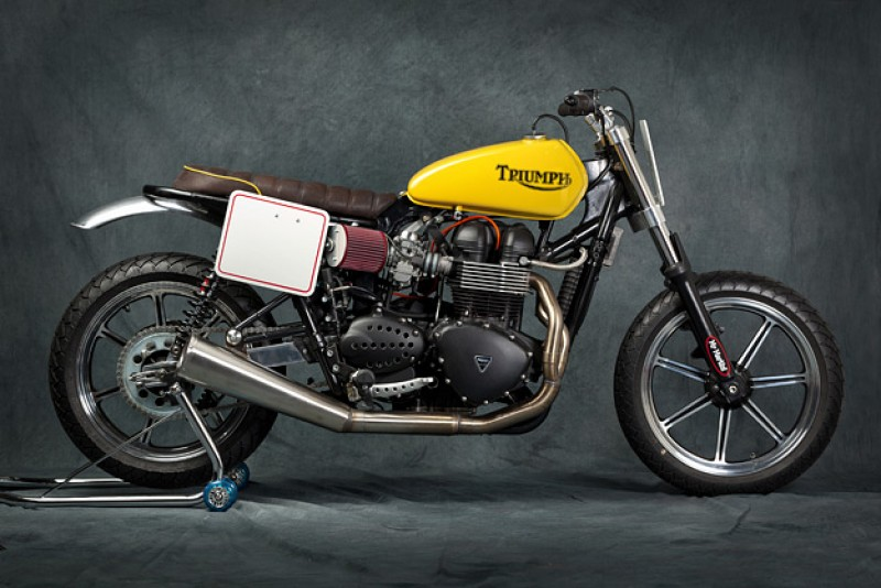 "Triumph Bonneville ""Shorty"" del preparador italiano Mr Martini"