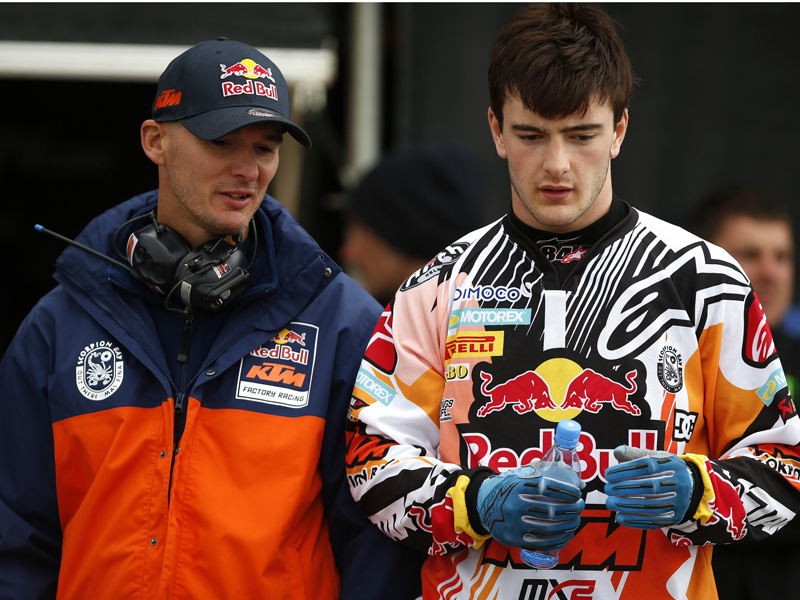 Stefan Everts y Jeffrey Herlings en el MXGP de Alemania de 2014.