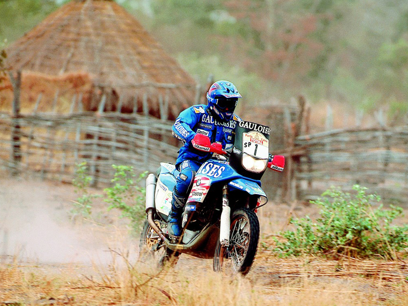 Richard Sainct, con la BMW en el Dakar.