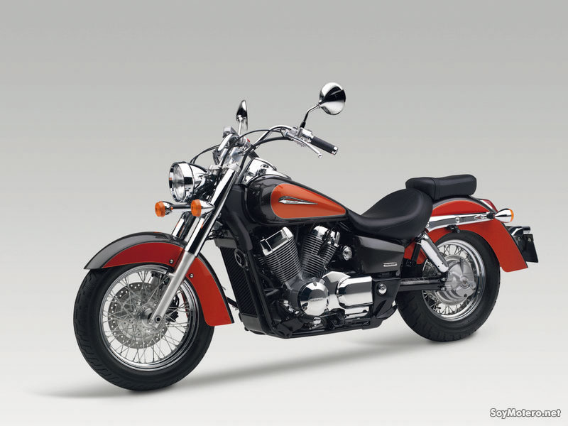 Honda Shadow 750 - orange vista lateral
