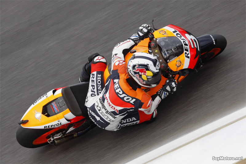 Dani Pedrosa - primeros libres GP Portugal 2009, Estoril