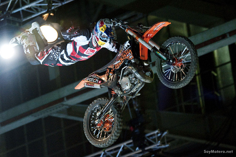 Mat Rebeaud - salto en la final de FMX, Freestyle Berlin 2009