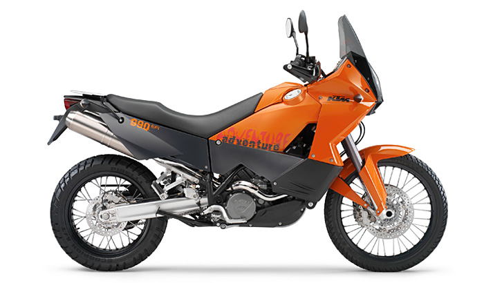 KTM 990 Adventure naranja