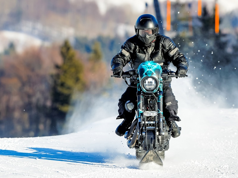 Harley–Davidson Roadster Snow Drag, frontal
