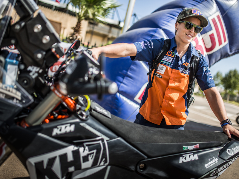 2018 ktm 450 rally. unique 450 laia sanz con la nueva ktm 450 rally 2018 and ktm rally