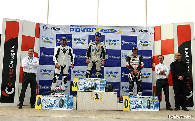 Foto de Michelin Power Cup 2009 - Podio Cartagena 600cc: Carrillo, Rico y Salom