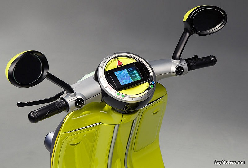 Mini Scooter E Concept - tablier con iPhone integrado