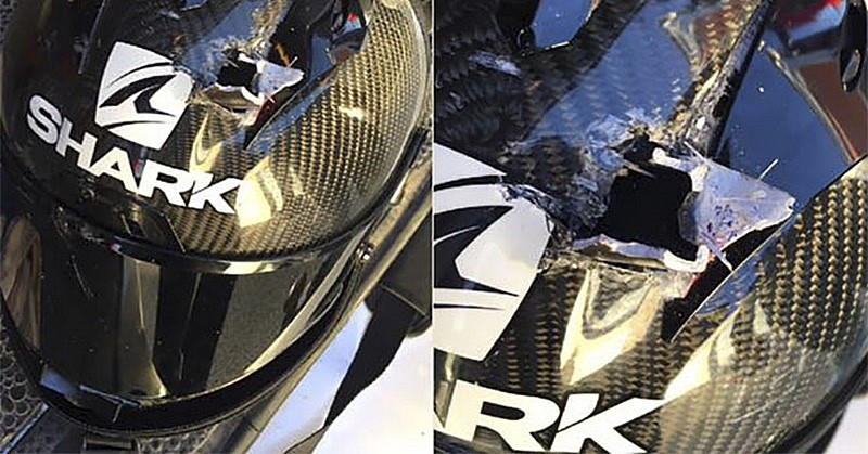 Accidente Christophe Ponsson casco Shark