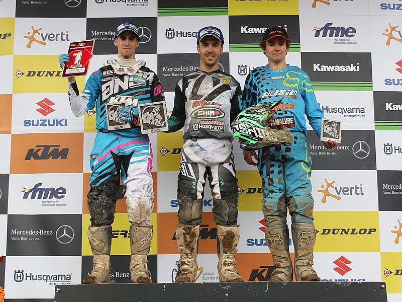 Podio MX2 As Neves.