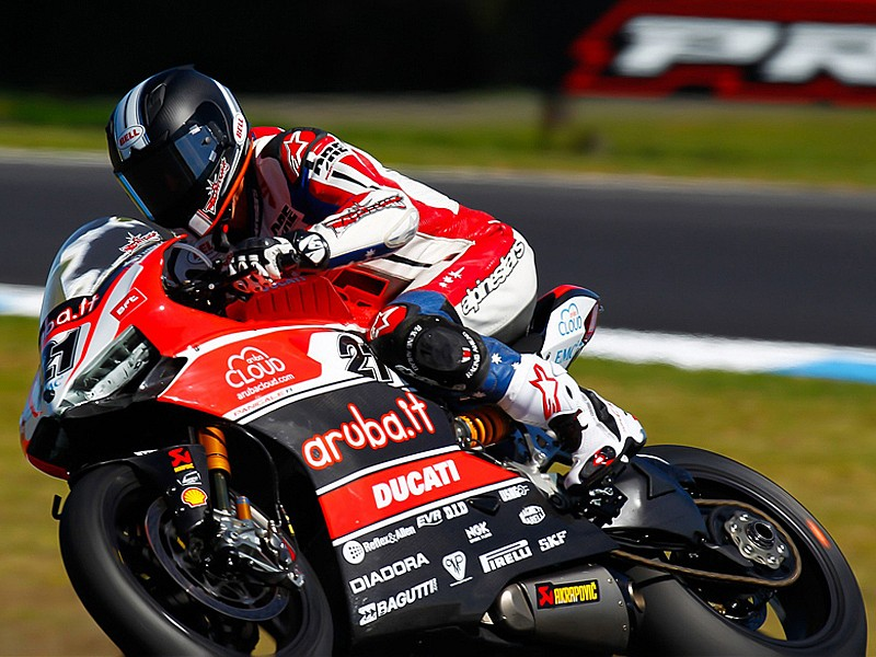 Troy Bayliss durante su fugaz regreso al Mundial de Superbike
