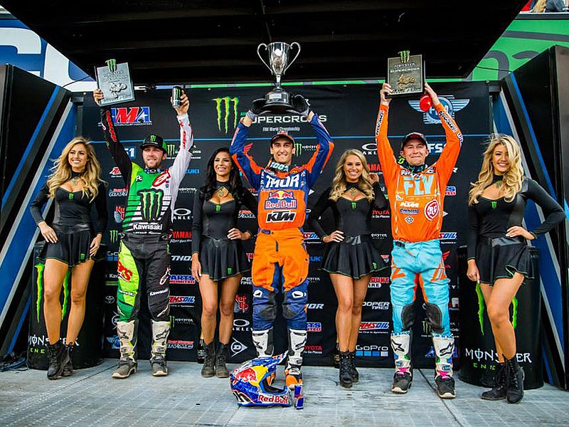 Musquin, Tomac y Bagget en el podio de Salt Lake City