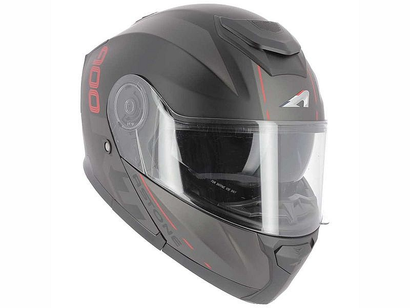 Astone RT 900 Stripe Matt negro y rojo