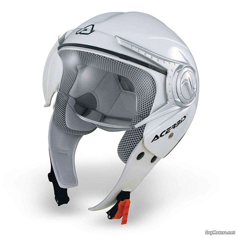 Acerbis Na-No - casco jet blanco