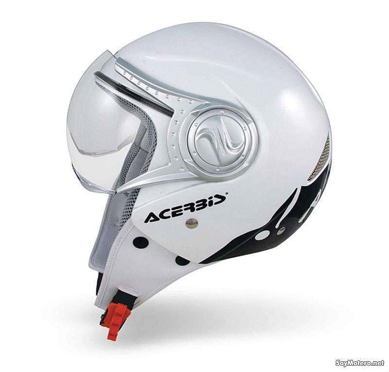 Acerbis Na-No blanco - vista lateral casco jet