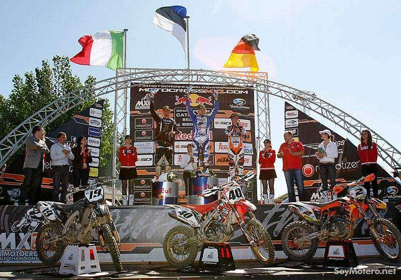 GP Cataluña Motocross - podio MX1