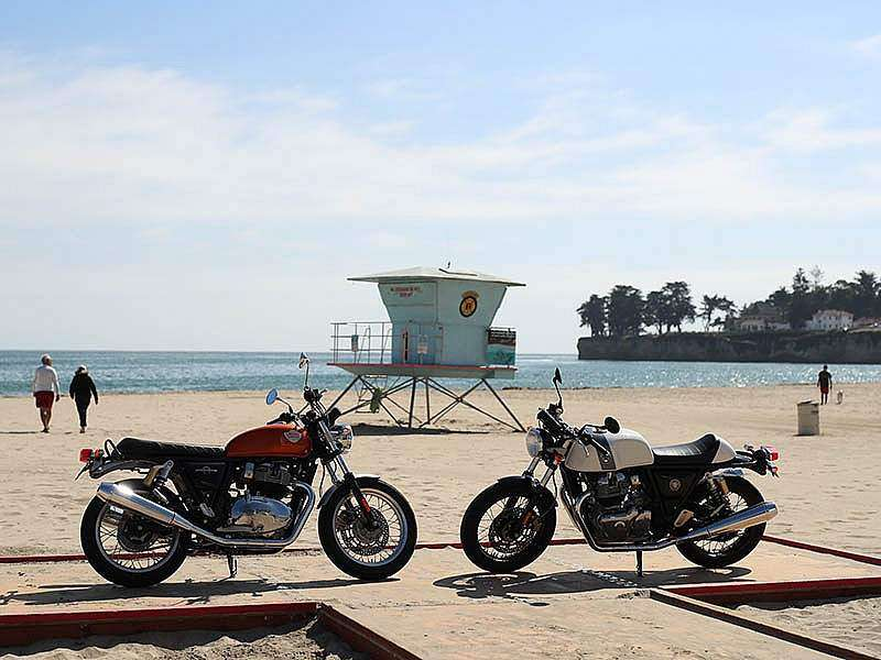 Royal Enfield presenta en las playas de Santa Cruz (California) sus nuevas Continental GT 650 e Interceptor INT 650