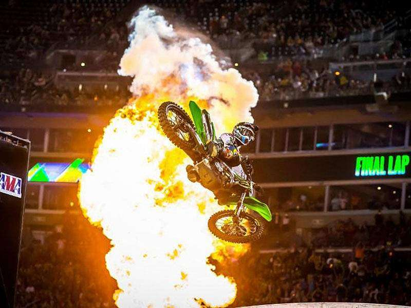 Podio del AMA SX en East Rutherford