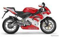 Aprilia RS 125 color rojo y blanco