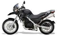 BMW G 650 GS negra, color negro