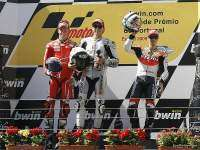 Podio MotoGP Estoril 2009