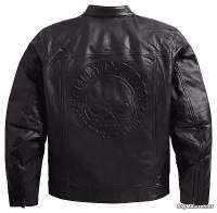 Harley-Davidson Axle Leather Jacket - Chaqueta de cuero relieve clavera en espalda