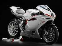 MV Agusta F4 2013 en color blanco.