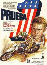 Cartel de la película de steve McQueen Prueba 1 (originalmente On Any Sunday)