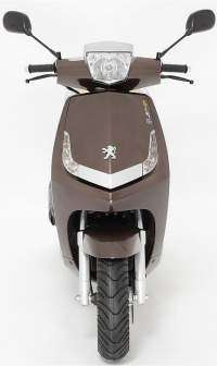 Peugeot New vivacity 125 frontal chocolate