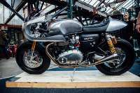 La Triumph Thruxton R BIT2 luce en el Bike Shed London 2016