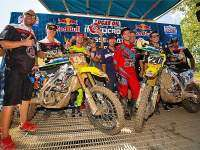 Roczen y Tickle en el podio de Muddy Creek.