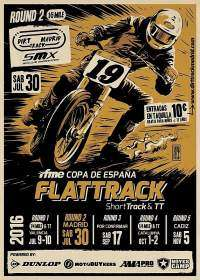 Cartel Flat Track Madrid