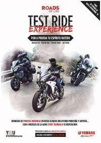 Cartel oficial Yamaha Roads of Life - Test Ride Experience