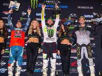 Podio AMA Supercross en Detroit