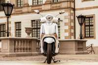 Toma frontal del Yamaha D'elight 125