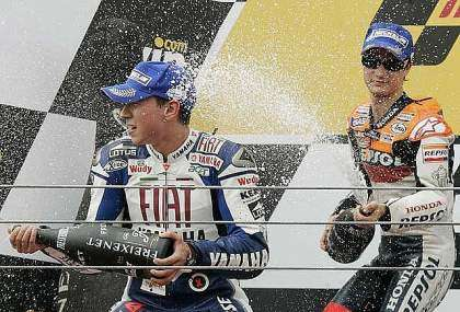 Podio Estoril motoGP 2008