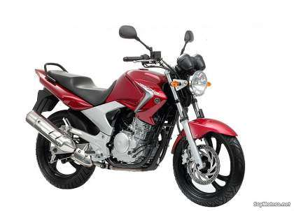 Yamaha YBR250 color rojo